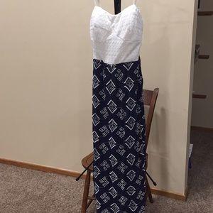 Juniors lace maxi dress size L